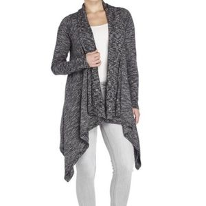 Lucky Brand Draped Open Front Knit Cardigan